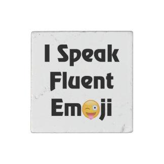 Speak Fluent Emoji Stone Magnet