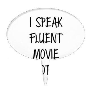 Speak Fluent Movie Quotes Cake Topper