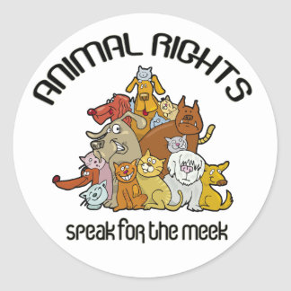Speak For The Meek Animal Rescue Sticker