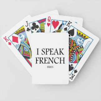 Speak French Fries Bicycle Playing Cards