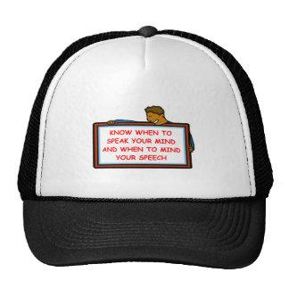 speak trucker hat