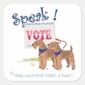 Speak Irish Terriers Election Day Square Sticker