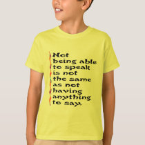 Speak Kids' Shirts