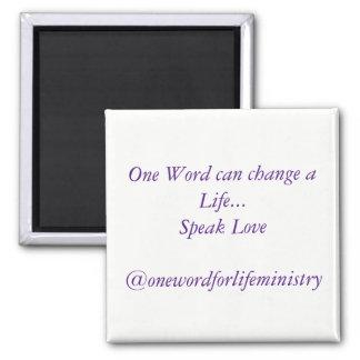 Speak Love magnet