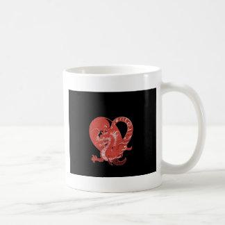 Speak LOVE out loud dragon and heart Coffee Mug