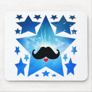 Speak LOVE out loud moustache Mouse Pad