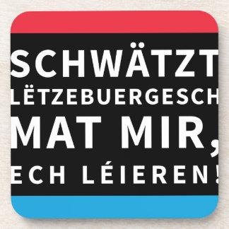 Speak Luxembourgish Coaster Black