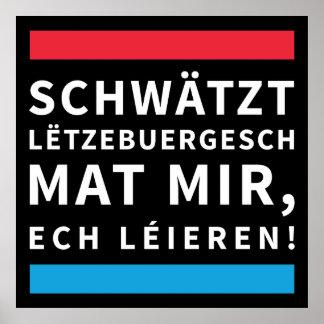 Speak Luxembourgish poster Black