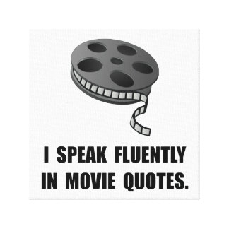 Speak Movie Quotes Canvas Print