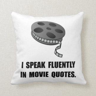 Speak Movie Quotes Throw Pillow