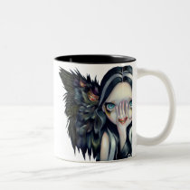 artsprojekt, art, seer, crow, raven, angel, surreal, eye, gothic angel, witch, witches, creepy, wing, wings, mouth, teeth, fangs, tooth, fang, yokai, fantasy, eyes, big eye, big eyed, jasmine, becket-griffith, becket, griffith, jasmine becket-griffith, jasmin, strangeling, artist, goth, gothic, fairy, gothic fairy, faery, fairies, faerie, Mug with custom graphic design