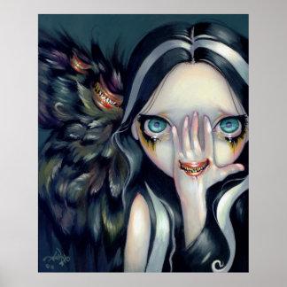 Speak No Evil ART PRINT gothic surrealism horror