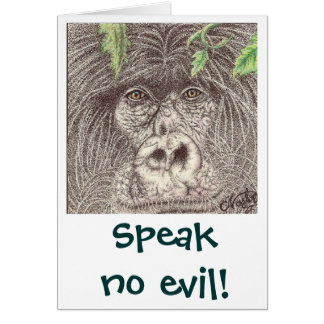 Speak No Evil Gorrilla Card