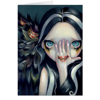 """Speak No Evil"" Greeting Card"