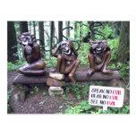speak no evil hear no evil see no evil postcard