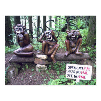 speak no evil hear no evil see no evil postcard
