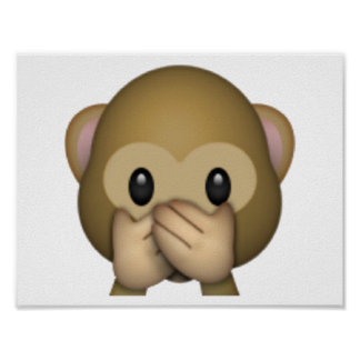 Speak No Evil Monkey - Emoji Poster