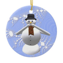 Speak No Evil Snowman Christmas Tree Decoration