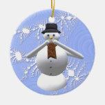 Speak No Evil Snowman Christmas Tree Decoration Christmas Tree Ornament