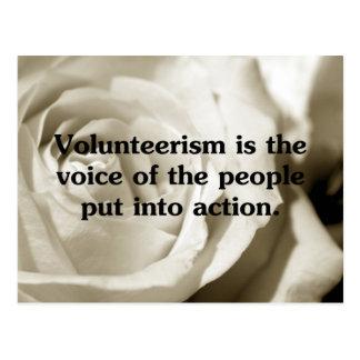 Speak out by volunteering postcard