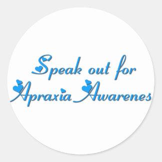 Speak Out! Classic Round Sticker