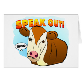 Speak Out! Greeting Card