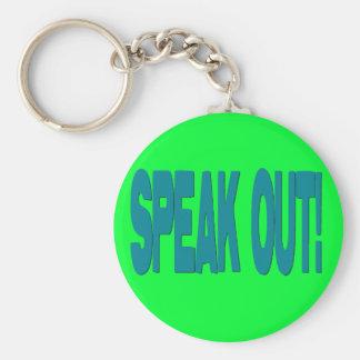 Speak Out Keychain