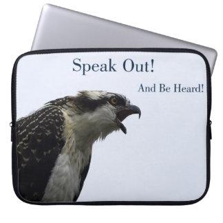 Speak Out Osprey Wild Bird Laptop Sleeve