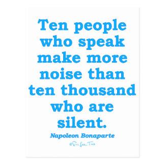 Speak Out Postcard