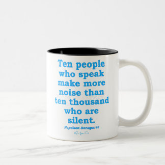 Speak Out Two-Tone Coffee Mug