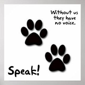 Speak! Poster