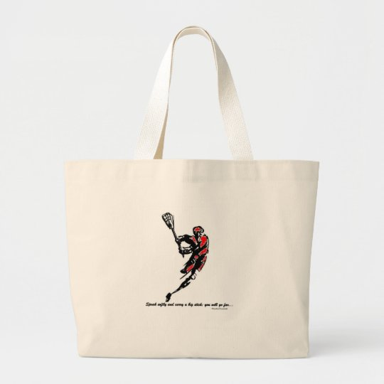 Speak Softly and Carry a Big Stick... Large Tote Bag