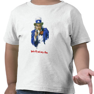 Speak Softly & Carry a 9mm Uncle Sam with Gun Shirt