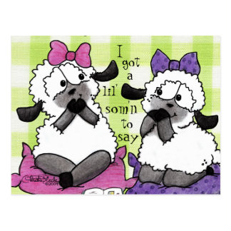 Speak Softly Lambs Postcard