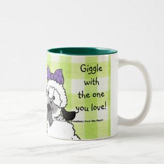 Speak Softly Lambs Two-Tone Coffee Mug