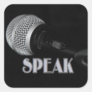 Speak Square Sticker