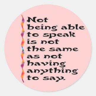 Speak Stickers