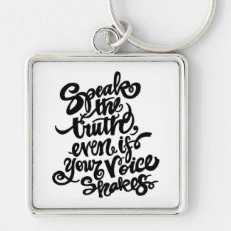 """""""Speak the Truth"""" Keychain"""