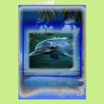 Speak Thy Peace Dolphin Throat Chakra Card
