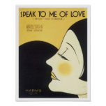 Speak to Me of Love Vintage Songbook Cover Poster