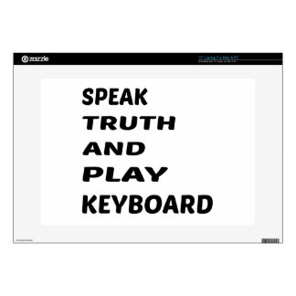 "Speak Truth and play Keyboard Decal For 15"" Laptop"