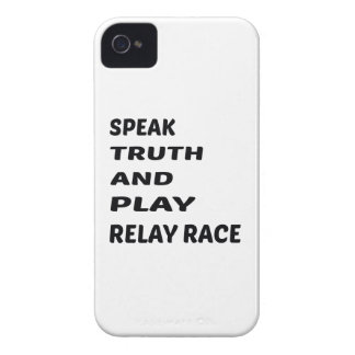 Speak Truth and play Relay Race. iPhone 4 Case-Mate Case