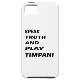 Speak Truth and play Timpani iPhone SE/5/5s Case