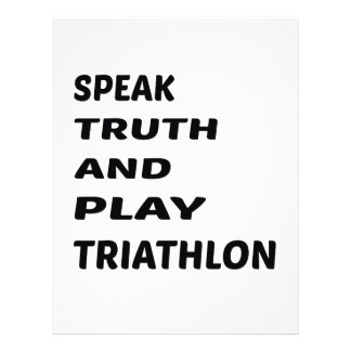 Speak Truth and play Triathlon. Letterhead