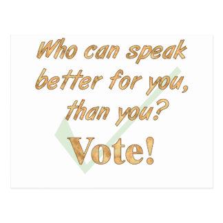 Speak Up and Vote Postcard