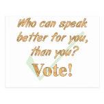 Speak Up and Vote Postcards