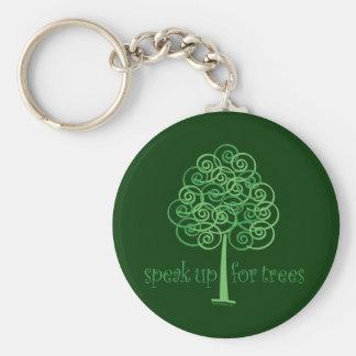 Speak Up for Trees - Tree Hugger Basic Round Button Keychain