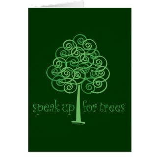 Speak Up for Trees - Tree Hugger Greeting Card