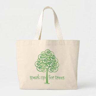 Speak Up for Trees - Tree Hugger Jumbo Tote Bag