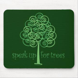 Speak Up for Trees - Tree Hugger Mouse Pad